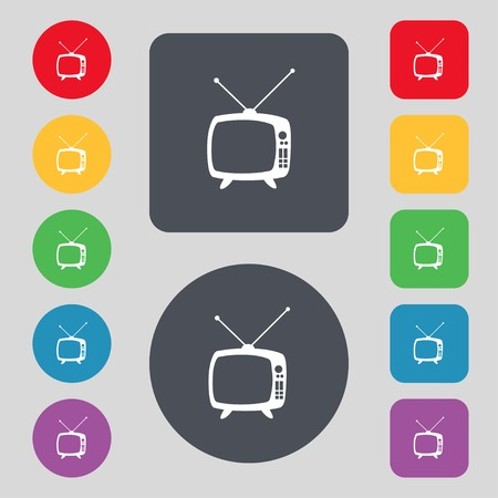 Retro TV mode sign icon.  Vector