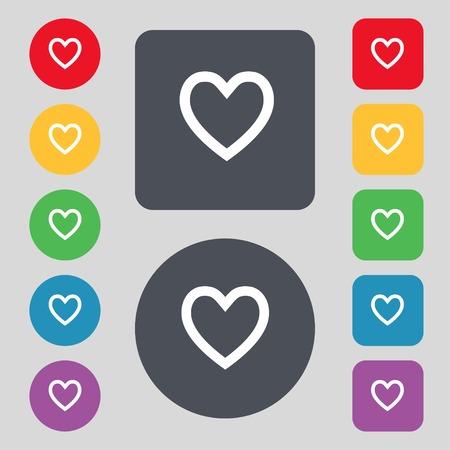 heart sign icon.  Vector