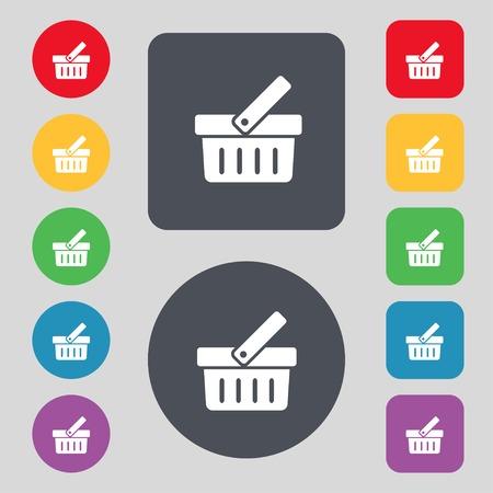 Shopping Cart sign icon.   Vector