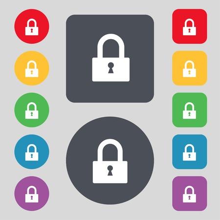 Lock sign icon.   Vector