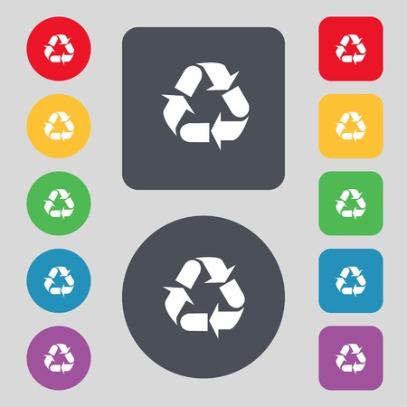 recycle icon.   Vector