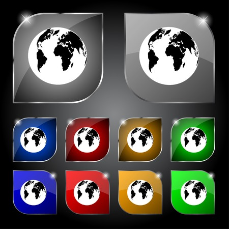 geography:  World map geography symbol.