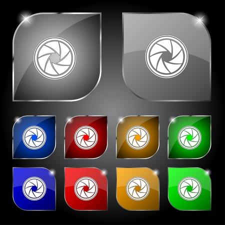 diaframma: diaframma icona. Aperture segno.