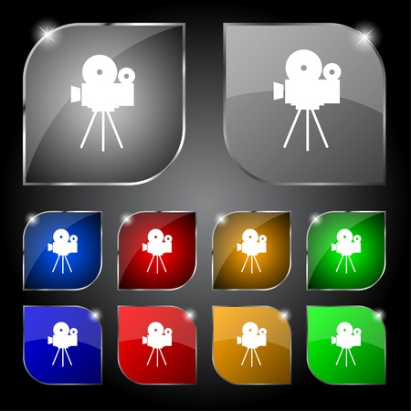 Video camera sign icon. Vector