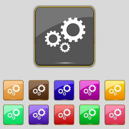 Cog settings sign icon.  Vector
