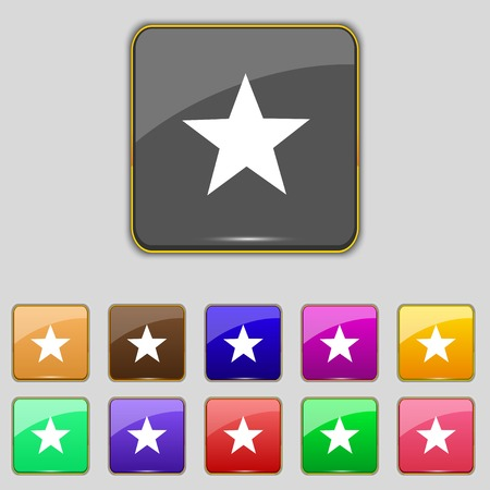 Star sign icon. Favorite button.