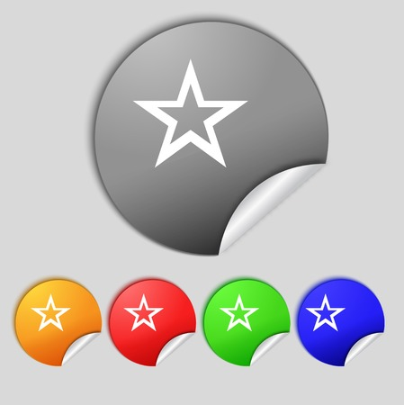 Star sign icon.  Vector