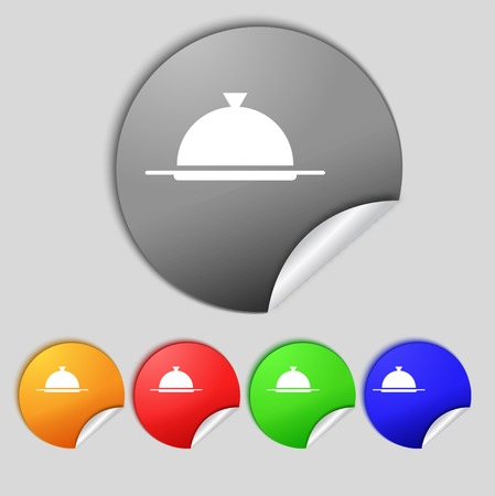 Food platter serving sign icon.  Vector