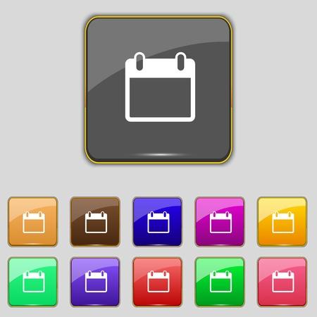 date stamp: Calendar sign icon. days month symbol