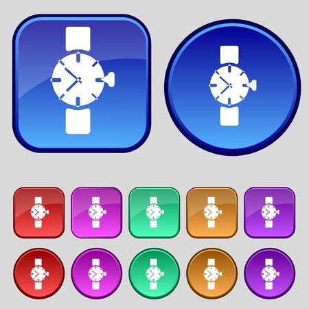orologio da polso: Orologio da polso segno icon. Vettoriali