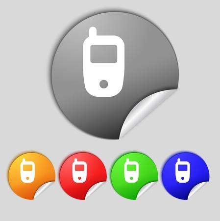 telecommunications technology: Mobile telecommunications technology symbol.  Illustration