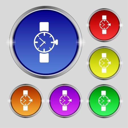 orologio da polso: Orologio da polso segno icona.