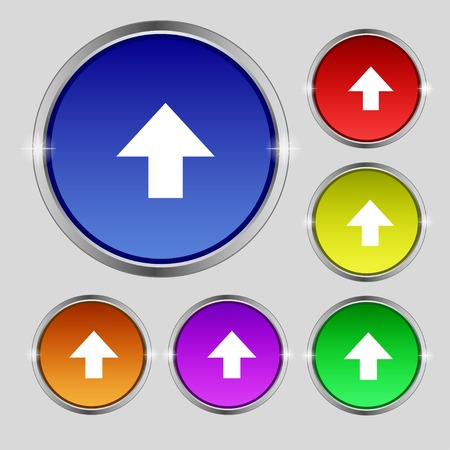 arrow side up sign icon.   Vector