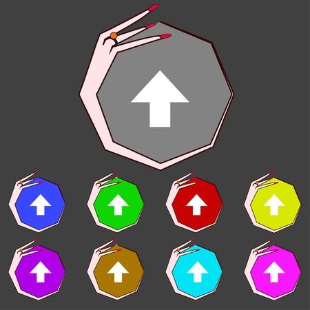 arrow up  icon.  Vector