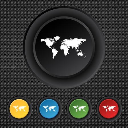 geography:   World map geography symbol.   Illustration