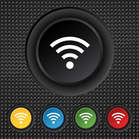 Wifi sign.  Vector