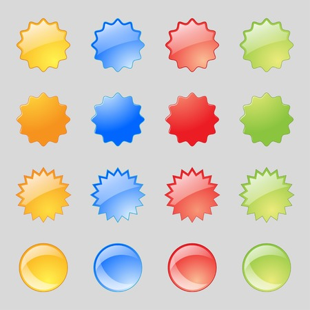 rollover: Set of blank colourful web buttons for website or app. Vector illustration
