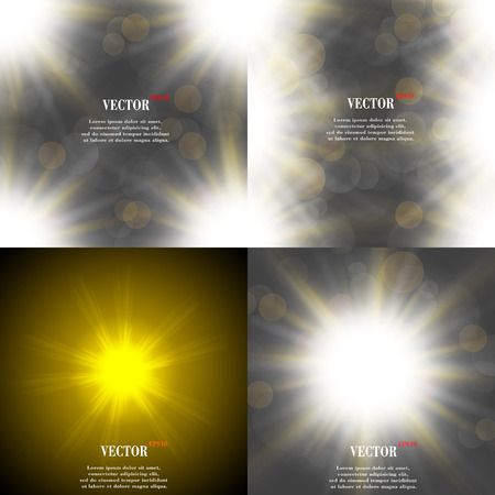 Summer sun light burst. If you enjoy the hot and glittering summer sun, that is the background with space for your message. EPS10. Vector illustration Vector Illustration