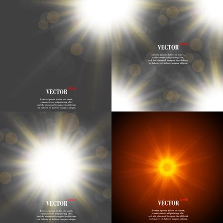 light burst: Sommer Sonne Licht Burst. Wenn Sie genie�en die warmen und glitzernden Sommersonne, ist, dass der Hintergrund mit Platz f�r Ihre Nachricht. EPS10. Vektor-Illustration