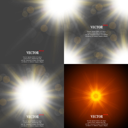 glaring: Summer sun light burst. If you enjoy the hot and glittering summer sun, that is the background with space for your message. EPS10. Vector illustration