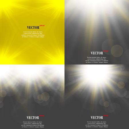 light burst: Sommersonne Licht bersten. Wenn Sie genie�en Sie die warme und glitzernden Sommersonne, ist, dass der Hintergrund mit Platz f�r Ihre Nachricht. EPS10. Vektor-Illustration