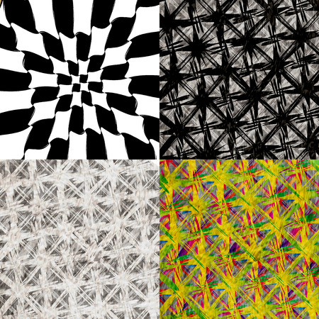 chequer: Set of abstract, vintage, old and empty grungy backgrounds. Vector illustration