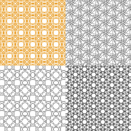 Set of  geometric pattern in op art design. Vector illustration art Illustration