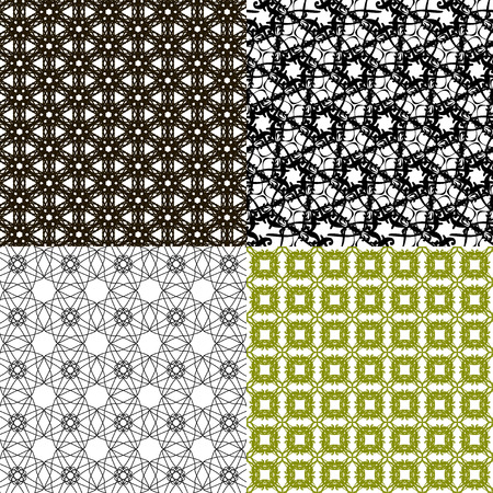 womanly: Set of  pattern. Modern stylish texture. Repeating abstract background. Vector illustration Illustration