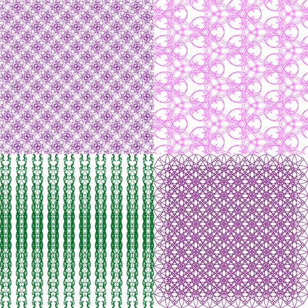 Set of  pattern. Modern stylish texture. Repeating abstract background. Vector illustration Vector