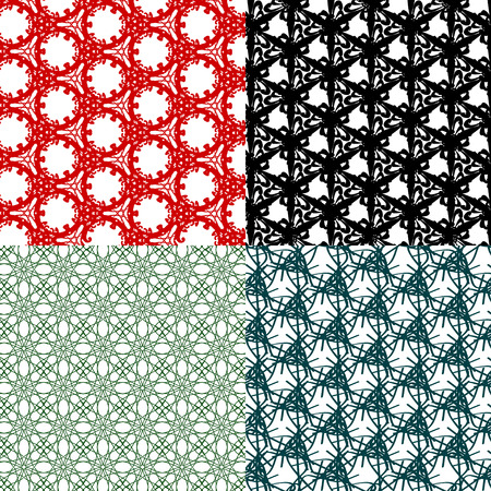 mishmash: Set of  pattern. Modern stylish texture. Repeating abstract background. Vector illustration Illustration