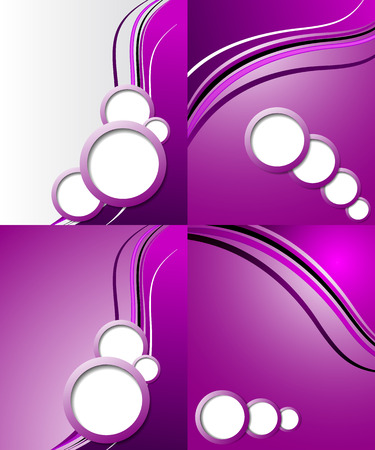 Set of elegant abstract purple background with for your text. Vector illustration Vector