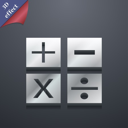 Mathematics icon symbol. 3D style. Trendy, modern design with space for your text Vector illustration