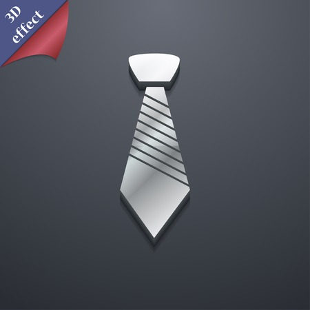 official wear: Tie icon symbol. 3D style. Trendy, modern design with space for your text Vector illustration