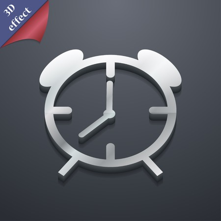 wake up call: Alarm clock icon symbol. 3D style. Trendy, modern design with space for your text Vector illustration