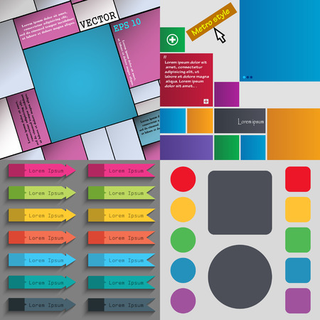 Big set of different colored buttons. Trendy, modern design for your web site. Vector illustration Vector