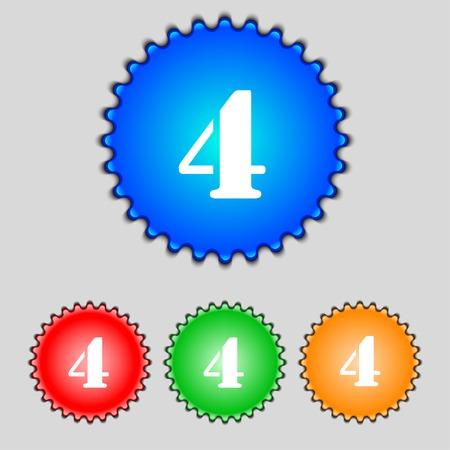 cijfer vier: nummer vier pictogram teken.