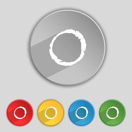 number zero icon sign.