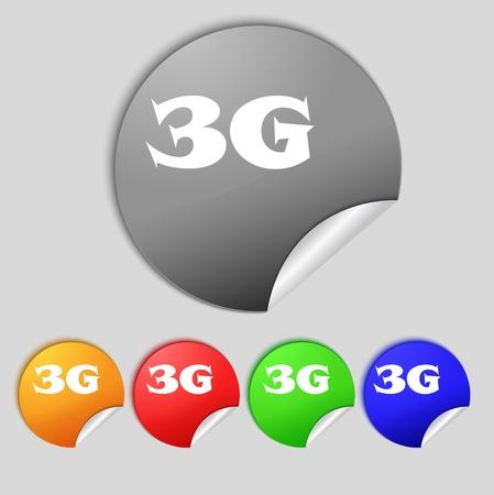 3g: Icono de se�al de 3G. Vectores