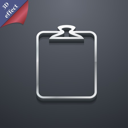 appendix: Paper clip icon symbol. 3D style. Trendy, modern design with space for your text Vector illustration Illustration