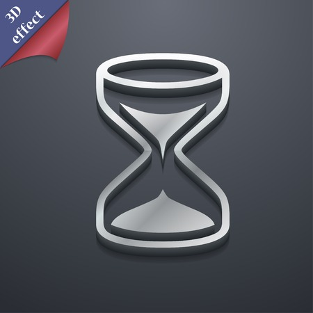 sandglass: Hourglass icon symbol. 3D style. Trendy, modern design with space for your text Vector illustration