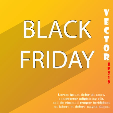 Black friday icon symbol Flat modern web design with long shadow and space for your text. Vector illustration Vector