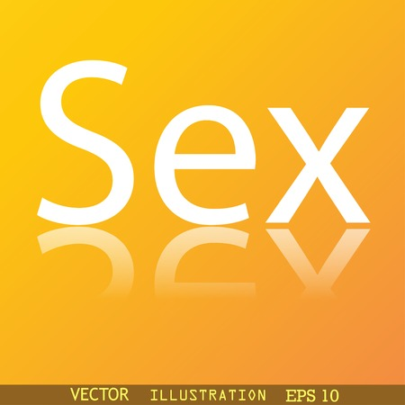 sex icon symbol Flat modern web design with reflection and space for your text. Vector illustration Vector