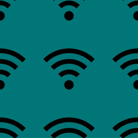 WI-FI web icon. flat design. Seamless gray pattern. Vector EPS10 Vector