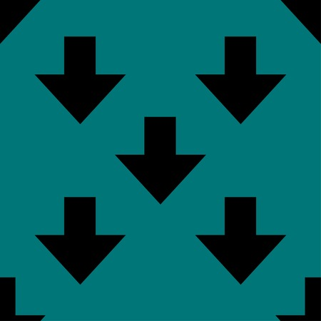 down Arrow web icon.  flat design. Seamless gray pattern. Vector EPS10