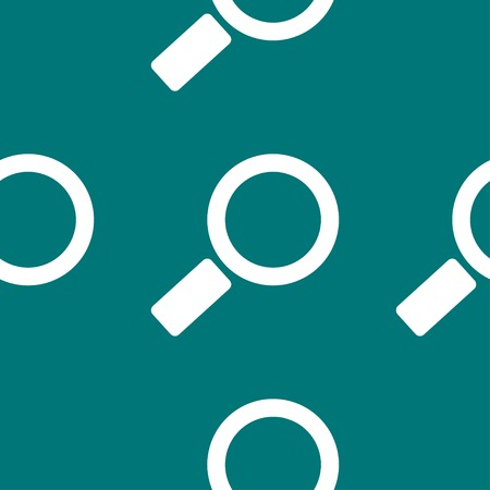 Search magnifier web icon.  flat design. Seamless pattern. Vector EPS10 Vector
