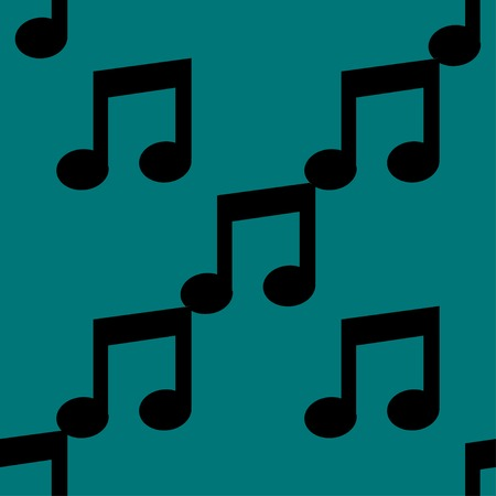 Music note web icon. flat design. Seamless pattern. Vector EPS10 Vector