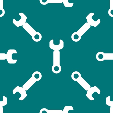 computer repair concept: Wrench. tool to work web icon flat design. Seamless pattern. Vector EPS10