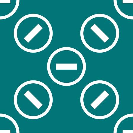 negativity: minus web icon. flat design. Seamless pattern. Vector EPS10 Illustration