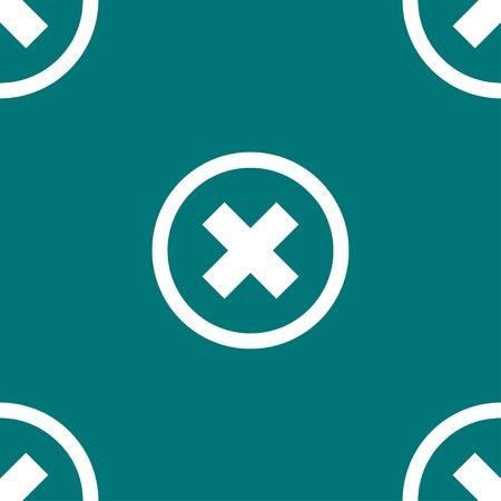 key signature: cancel  web icon. flat design. Seamless pattern. Vector EPS10