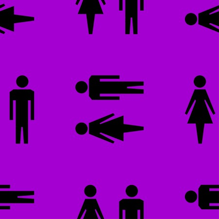 hommes et femmes: suluet hommes, les femmes ic�ne de web design plat. Motif gris transparent. Vecteur EPS10